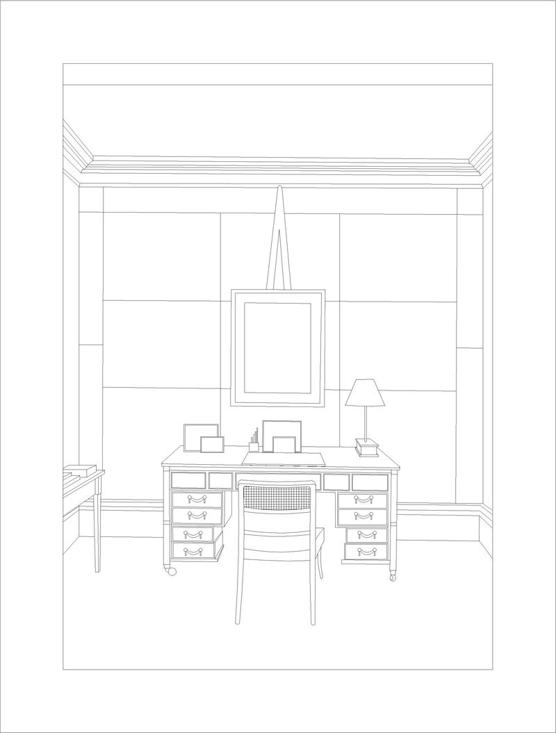 Room Drawing Pencil: House & Garden August 2012
